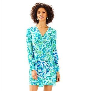🦋Lilly Pulitzer Blue Green Agate Delphine Silk🦋